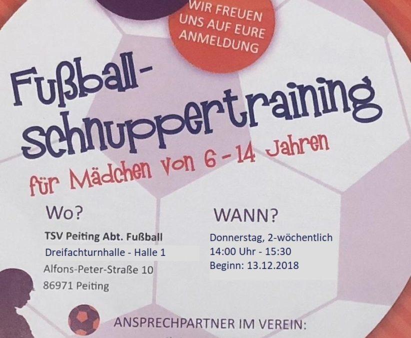 """""""Ballbina kickt"""" in der Halle! Hallentraining ab dem 13.12.2018"""